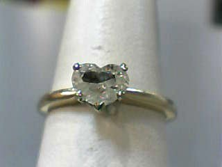 Lady's Diamond Solitaire Ring .66 CT. 14K Yellow Gold 1.6dwt Size:6.3