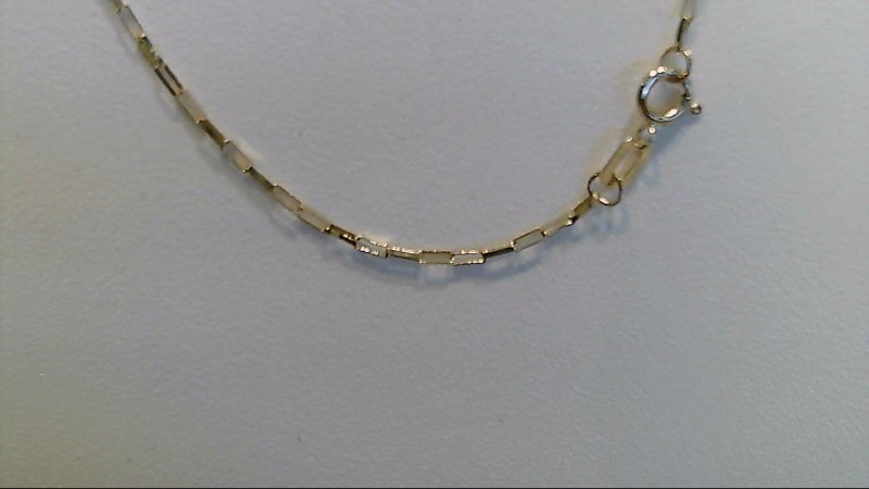 14k yellow gold 18 inch fashion chain