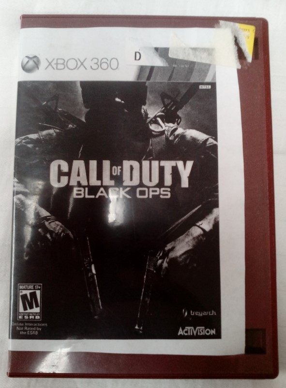 MICROSOFT XBOX 360 GAME CALL OF DUTY BLACK OPS