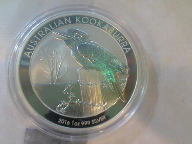 AUSTRALIA Silver Coin AUSTRALIAN KOOKABURRA 2012 1OZ COIN