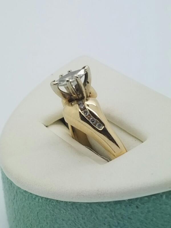 Lady's Diamond Engagement Ring 11 Diamonds .50 Carat T.W. 14K Yellow Gold