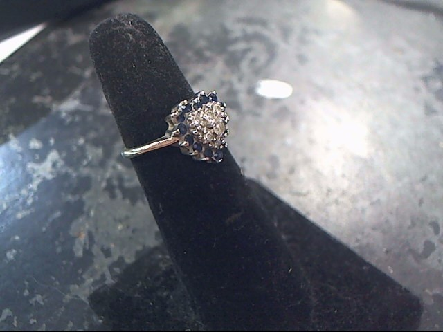 Lady's Diamond Cluster Ring 21 Diamonds .35 Carat T.W. 14K White Gold 2.2dwt