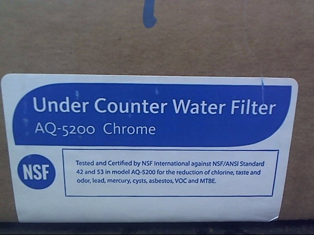AQUASANA under counter water filter AQ-5200