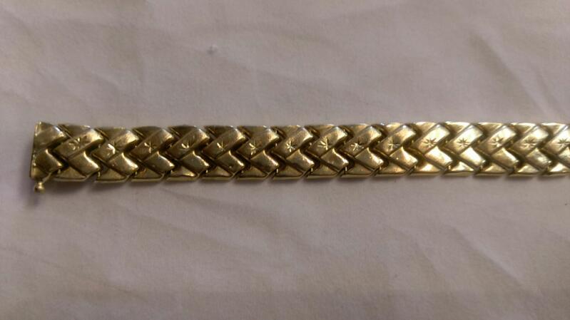 """Women's Gold Bracelet 14K Yellow Gold 15.7g 8.5 """""""