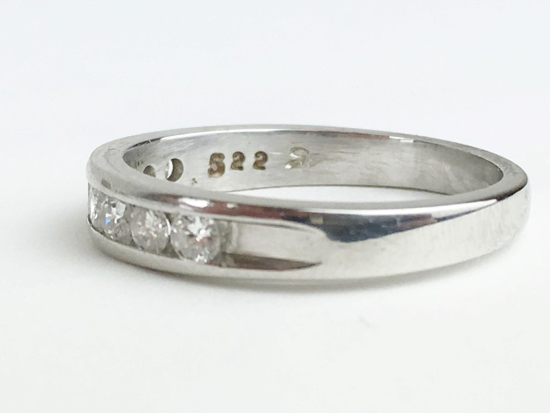 Platinum-Diamond Wedding Band 8 Diamonds .40 Carat T.W. 950 Platinum Size 8.5