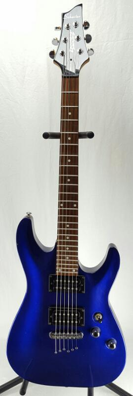 SCHECTER DIAMOND Series OMEN-6 Blue w/Soft Case