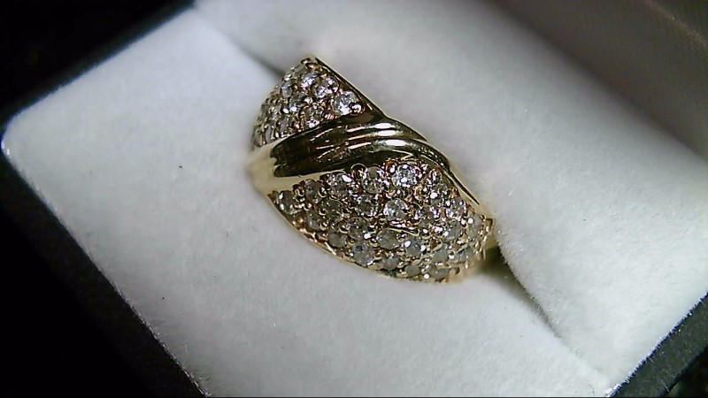 Lady's Diamond Cluster Ring 96 Diamonds 1.44 CTTW 14K Yellow Gold 4.7g