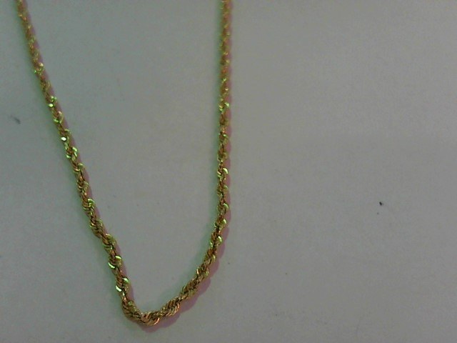 """16"""" Gold Rope Chain 14K Yellow Gold 1.6g"""