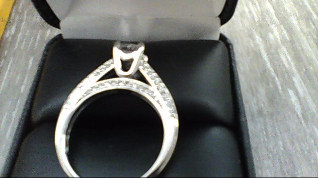 Lady's Diamond Solitaire Ring .50 CT. 14K White Gold 2.8dwt