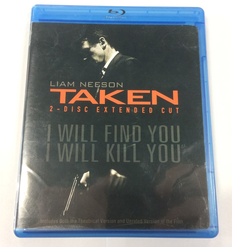 TAKEN, TWO-DISC EXTENDED CUT BLU-RAY MOVIE