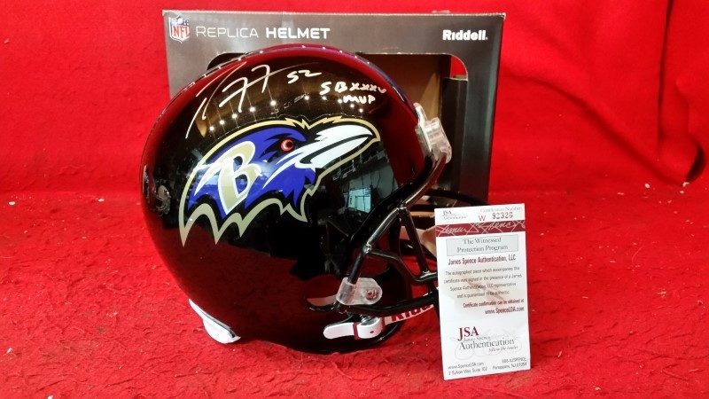 RAY LEWIS Super Bowl XLVII BALTIMORE RAVENS Riddell AUTHENTIC Football Helmet