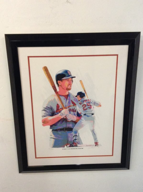 LEGENDS OF ART Sports Memorabilia MARK MCGWIRE POSTER