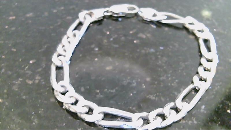 Sterling Silver 925 7 inch figaro bracelet