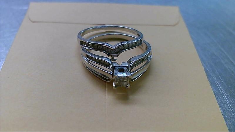 Lady's Diamond Wedding Set 38 Diamonds .42 Carat T.W. 10K White Gold 3.8g