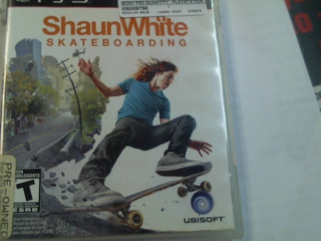 SONY PS3 SHAUN WHITE SKATEBOARDING