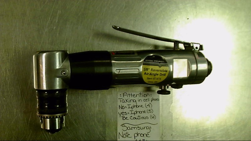 """CENTRAL PNEUMATIC 3/8"""" ANGLE DRILL 67474"""
