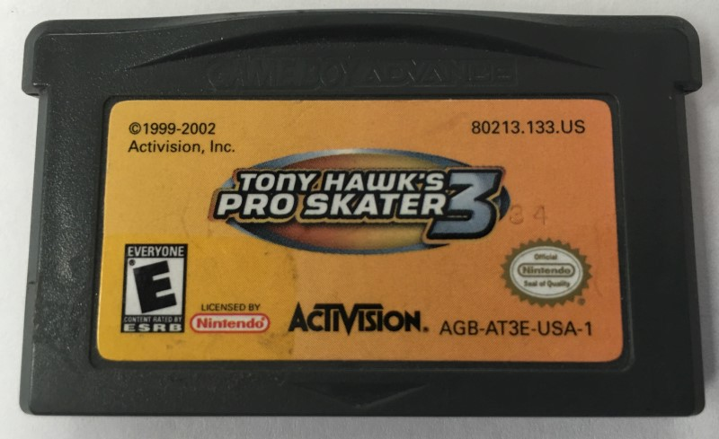 NINTENDO TONY HAWK PRO SKATER 3  GAME BOY ADVANCE