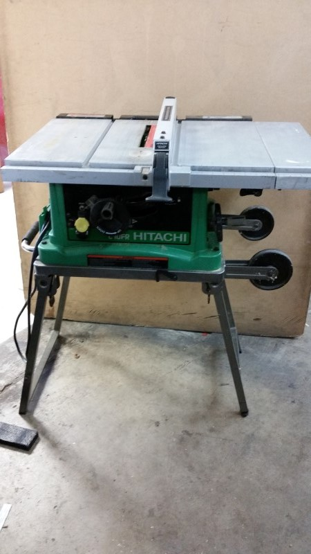 "Hitachi Portable 10"" Table Saw - w/ Stand"