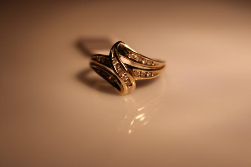 Lady's Diamond Fashion Ring 19 Diamonds .57 Carat T.W. 10K Yellow Gold 2.64g