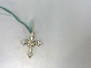 Gold-Multi-Diamond Pendant 22 Diamonds .185 Carat T.W. 14K Yellow Gold 0.8dwt