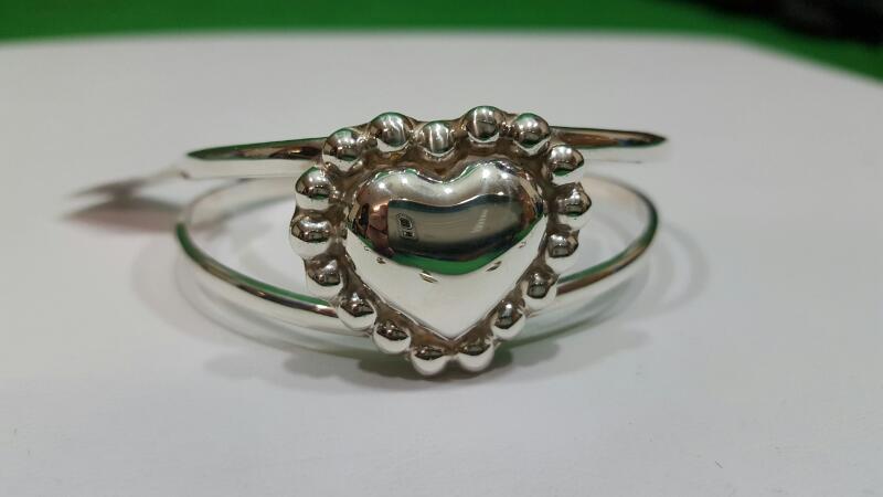 Silver Heart Adjustable Heart Bracelet 925 Silver 20.1g