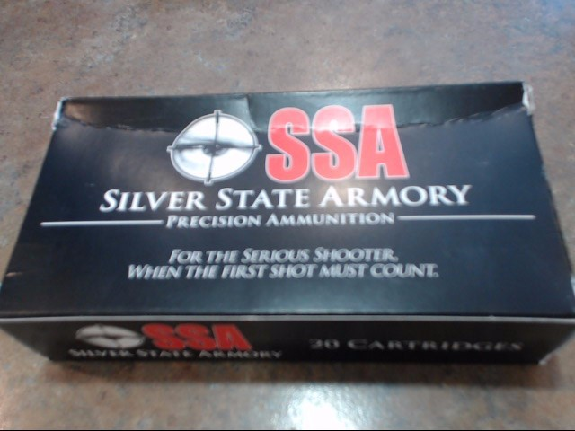 SILVER STATE ARMORY Ammunition .308 WIN 168 GRAIN