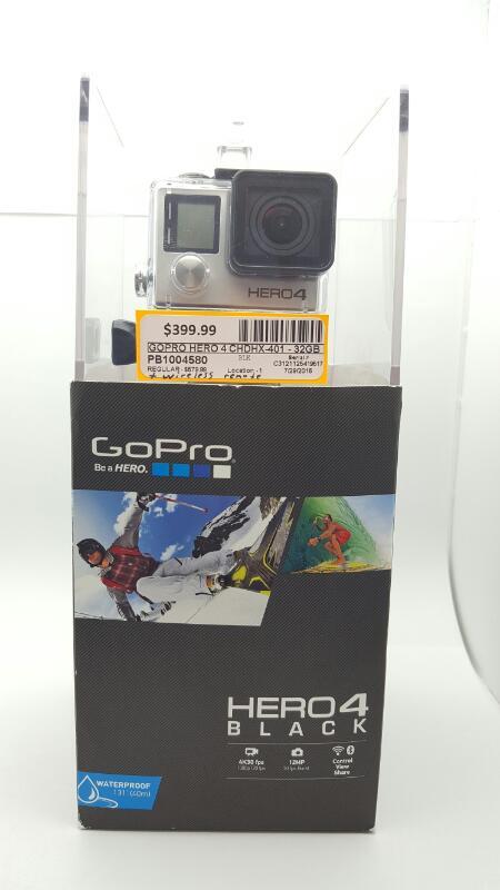 GOPRO HERO 4 CHDHX-401 - 32gb Black w/Box, Attachments, Waterproof Case & Remote
