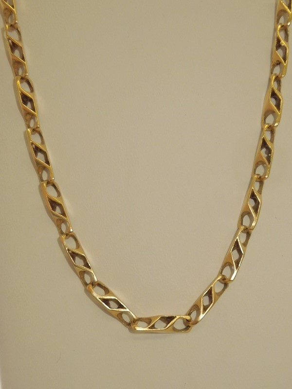 "22"" Gold Fashion Chain 14K Yellow Gold 33.8g"