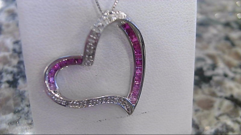 Diamond Necklace 26 Diamonds .26 Carat T.W. 10K White Gold 3.5g
