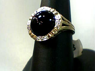 Onyx Lady's Stone Ring 10K Yellow Gold 3.1dwt Size:7