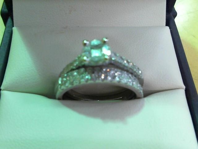 Lady's Diamond Wedding Set 50 Diamonds 1.33 Carat T.W. 14K White Gold 5.4g