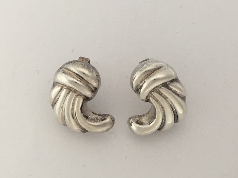STERLING SILVER 925 EARRINGS, 7.3 GRAMS