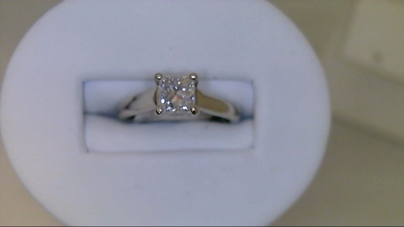 Lady's Diamond Engagement Ring 1.03 CT. 14K White Gold 3g