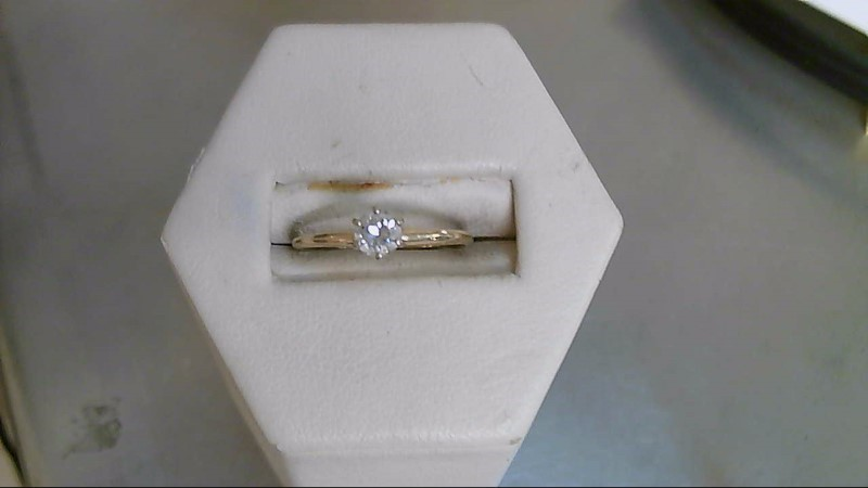 Lady's Diamond Solitaire Ring .33 CT. 14K Yellow Gold 1.3g