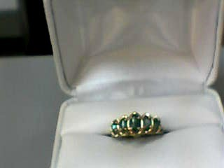 Emerald Lady's Stone Ring 10K Yellow Gold 1.6dwt Size:6