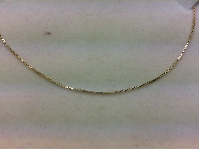 "18"" Gold Box Chain 14K Yellow Gold 2.1g"