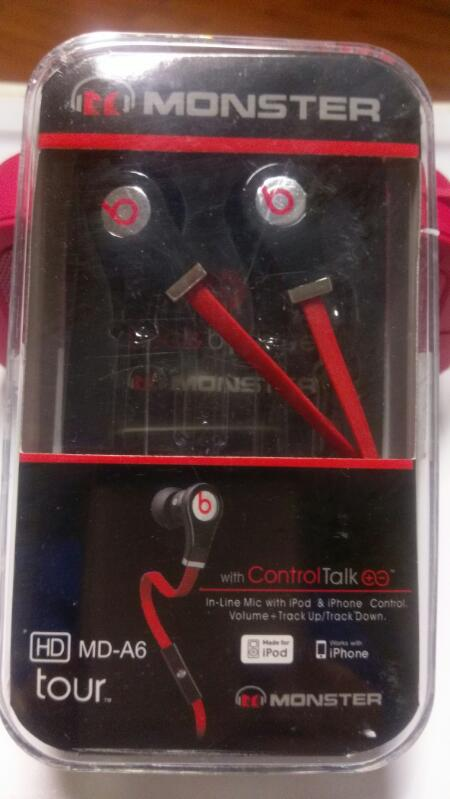 MONSTER BEATS BY DR.DRE EARBUDS