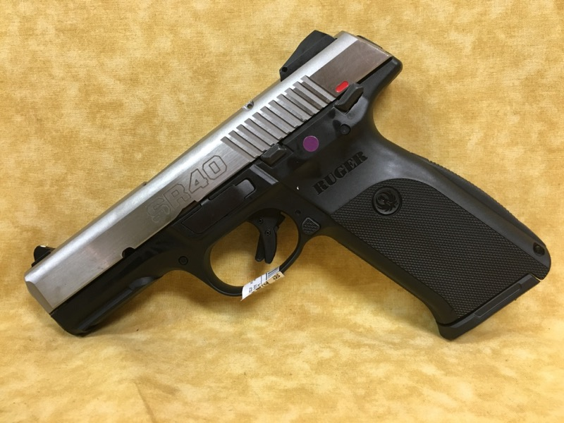 Ruger SR40 40S&W Pistol - 2 Mags - Stainless