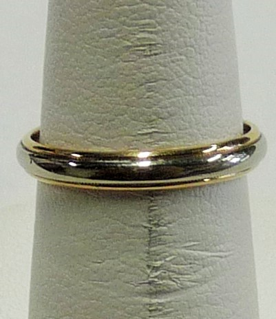 Gent's Gold Wedding Band 14K 2 Tone Gold 1.38dwt