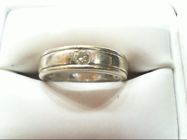 Lady's Diamond Wedding Band .08 CT. 18K White Gold 3.8g