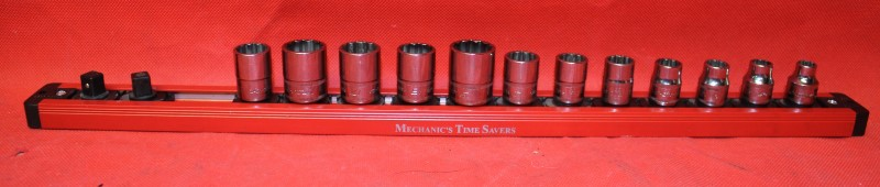 "Clean Snap-on Tools 3/8"" drive Metric Shallow 12 POINT Chrome Socket Set 212FMY"