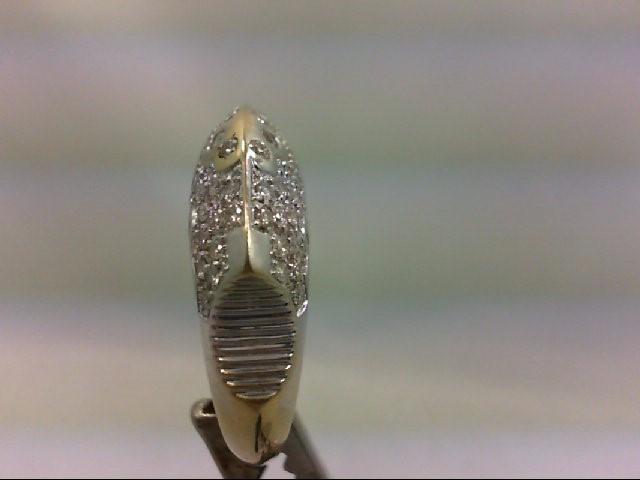 Lady's Diamond Cluster Ring 79 Diamonds 1.15 Carat T.W. 18K White Gold 9.4g