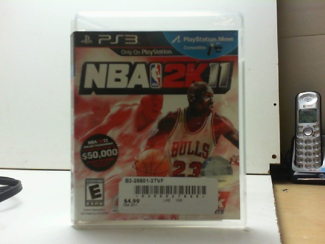 SONY Sony PlayStation 3 Game NBA 2K11 PS3