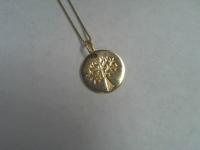 Gold Box Chain 14K Yellow Gold 2g w/charm