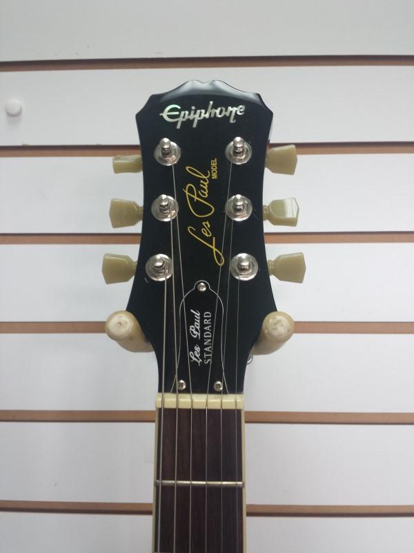 2010 Epiphone Les Paul Standard 6-String Black Electric Guitar