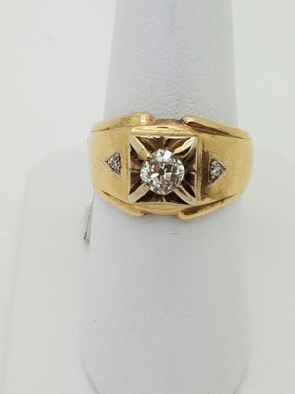 DIAMOND Lady's Diamond Solitaire Ring 3 Diamonds .67 Carat T.W. 14K Yellow Gold