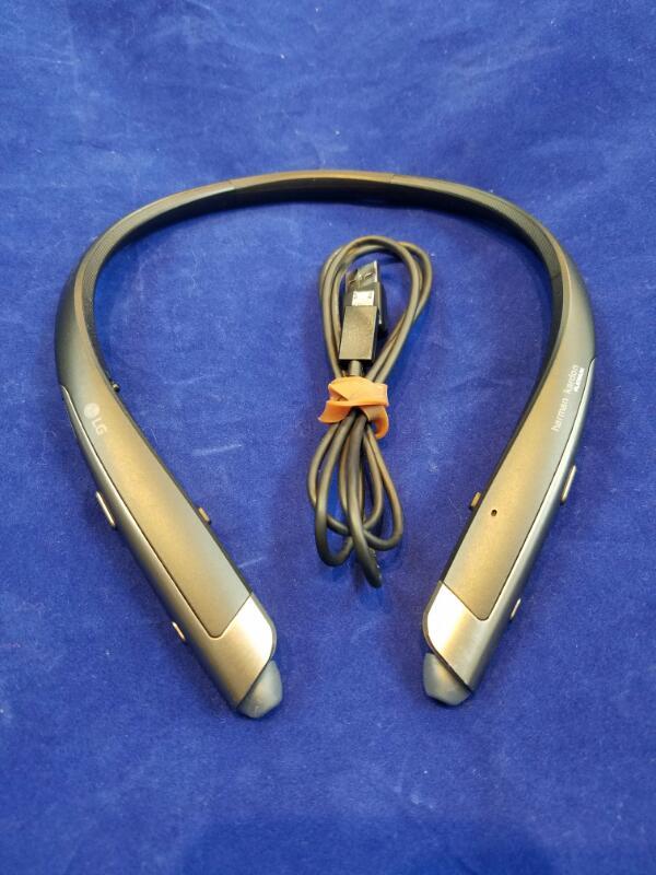 LG Headphones HBS-1100 Retractable Earbuds Harman/Kardon Platinum
