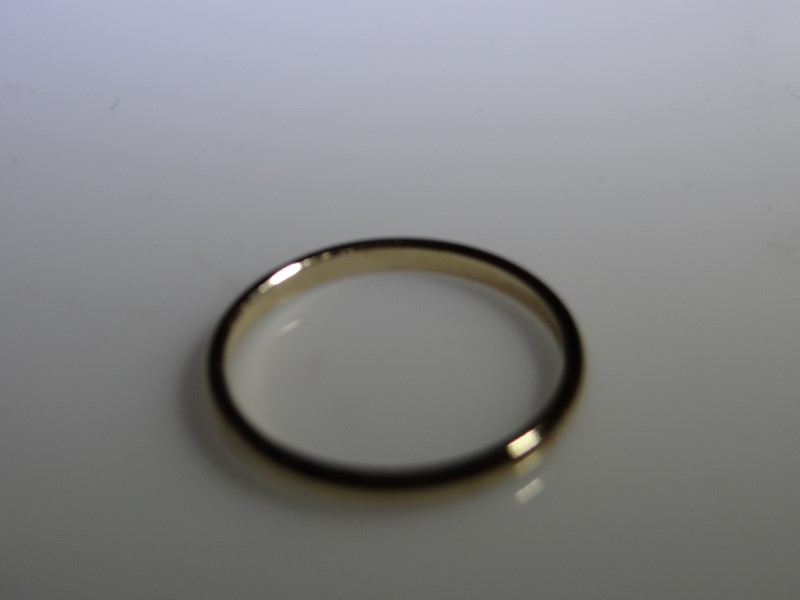 Lady's Gold Wedding Band 14K Yellow Gold 1.56g