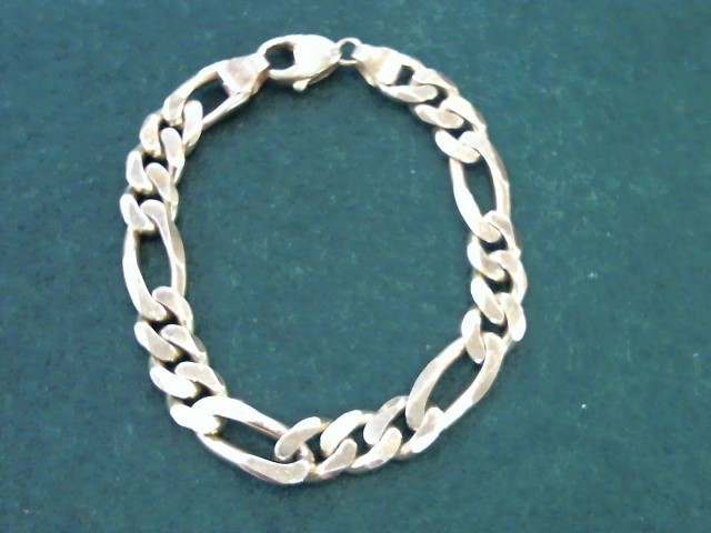 Gold Figaro Bracelet 14K Yellow Gold 43.2g