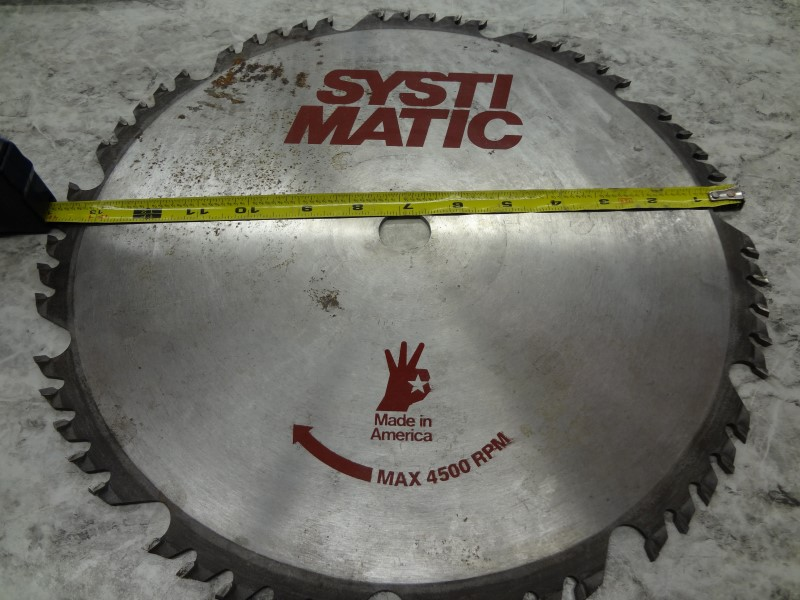 "SYSTI MATIC 14"" SAW BLADE"